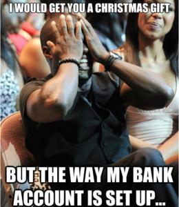 the way my bank account set up
