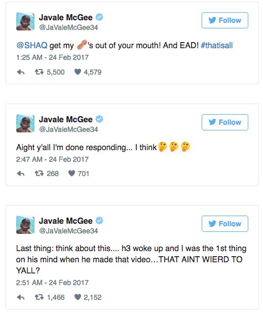 JaVale McGee tweets trending report