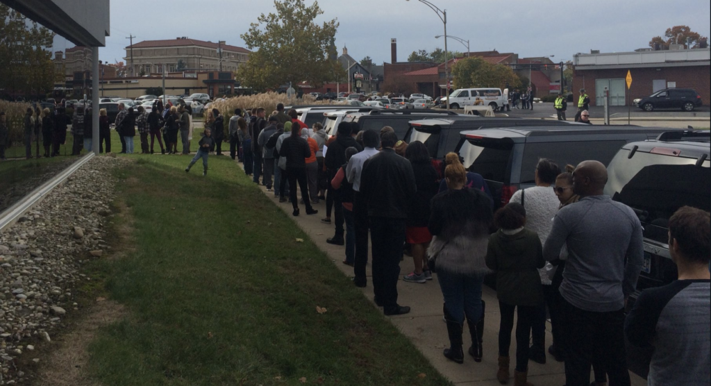 Record-Breaking Number Of Early Voters Turned Out