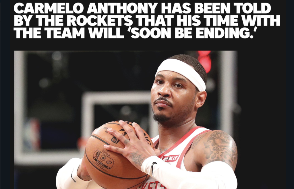 What The Hell is Going On With Carmelo?