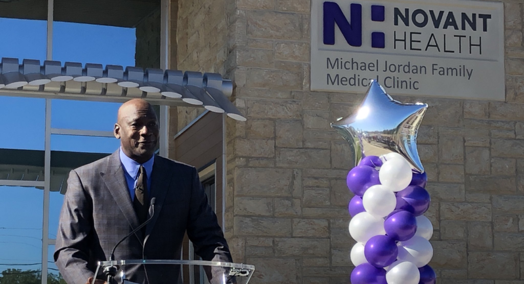 Michael Jordan Opens Clinic For low-income Community