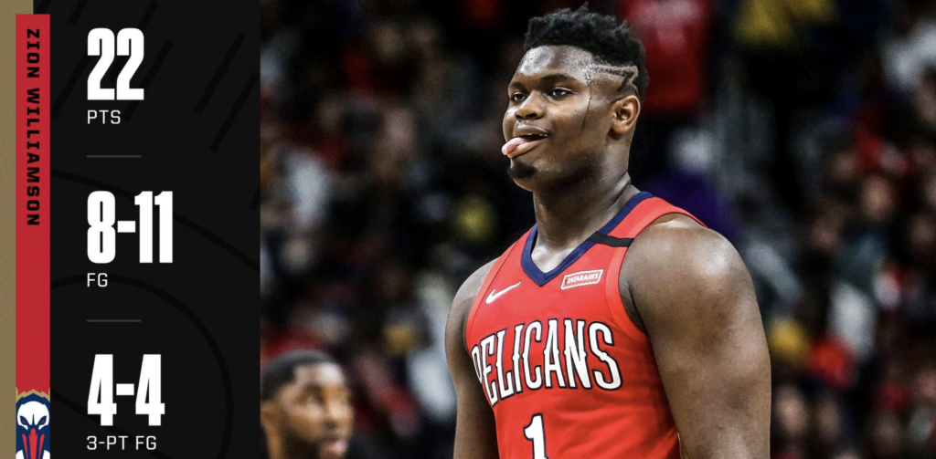 Zion Comes Out Strong