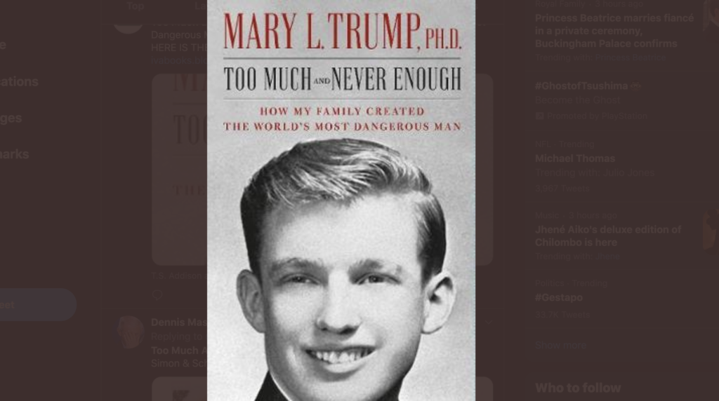 Mary Trump's Book is Breaking Records