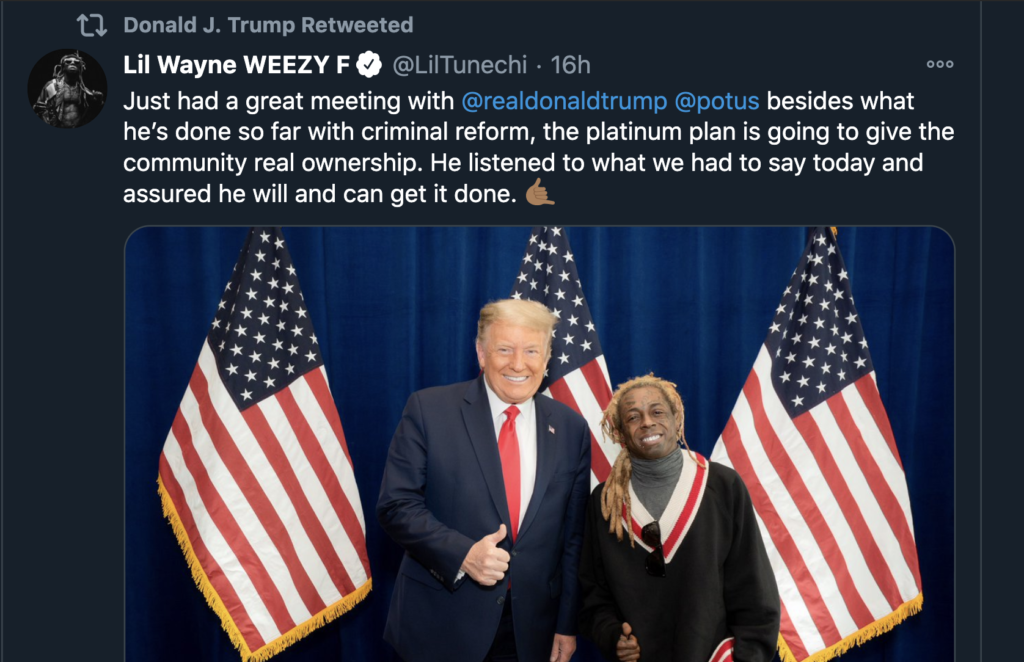 Newest Collab Lil Wayne x MAGA